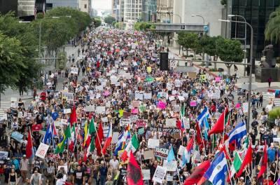 امریکی صدر ڈونلڈ ٹرمپ کے خلاف ایک بار پھر مظاہروں کا سلسلہ شروع