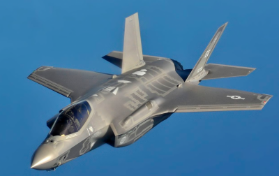امریکہ نے متعدد ایف تھرٹی فائیو اے جنگی طیارے برطانیہ بھیج دیے۔۔