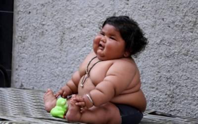 موٹاپے کاریکارڈ8 ماہ کی بچی کے نام