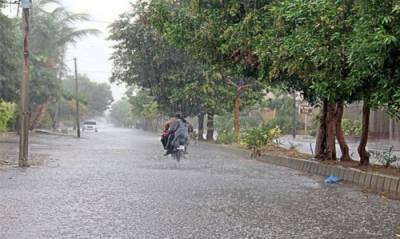 ملک کے بیشتر حصوں میں وقفے وقفے سے بارشوں کا سلسلہ جاری