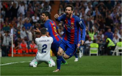 اسپینش لالیگا فٹ بال لیگ میں بارسیلونا نے ریال میڈرڈ کو دو کے مقابلے میں3 گول سے شکست دے دی