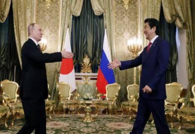 جاپانی وزیراعظم کی ماسکو میں صدر پیوٹن سے ملاقات