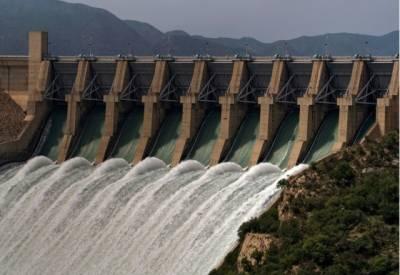 تربیلا ڈیم میں پانی کی سطح 1398.39، منگلا ڈیم میں 1132.70فٹ ہو گئی۔