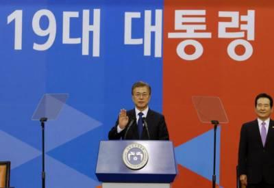 جنوبی کوریا کے نو منتخب صدر مون جائی ان نے حلف اٹھا لیا۔