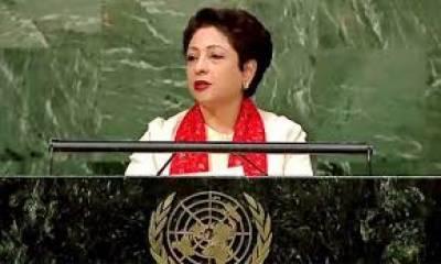 اقوام متحدہ کےچارٹر میں موجود حل طلب تنازعات سےتلخیاں بڑھ رہی ہیں :ملیحہ لودھی