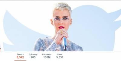 سوشل میڈیا ویب سائٹ ٹوئٹر پر امریکی گلوکارہ کیٹی پیری سب سے زیادہ فالورز والی شخصیت بن گئیں