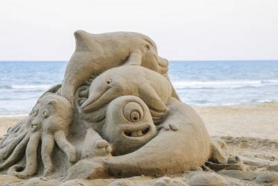 تائیوان کے فیولونگ ساحل پر ریت کے مجسموں کا دسواں بین الاقوامی میلہ جاری ہے