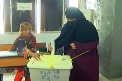 کراچی کے حلقہ پی ایس ایک سو چودہ میں ضمنی الیکشن کیلئے پولنگ