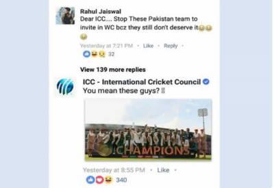 آئی سی سی کا بھارتی شہری کو جواب سوشل میڈیا پر وائرل ہوگیا۔