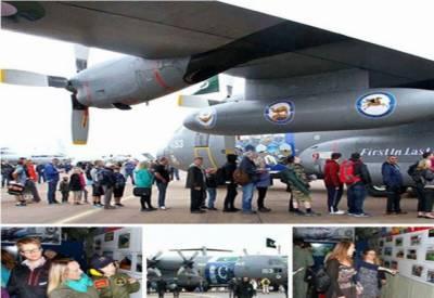 پاک فضائیہ کاسی130طیارہ رائل انٹرنیشنل ایئرشومیں توجہ کامرکز