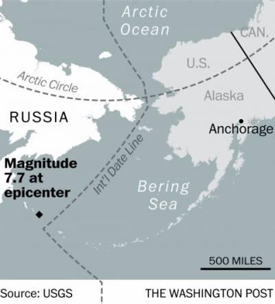 روس کے شمال مشرقی ساحلی علاقے میں شدید زلزلہ آیا ، ریکٹر اسکیل میں زلزلے کی شدت سات اعشاریہ آٹھ ریکارڈ کی گئی