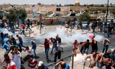 اسرائیلی سیکیورٹی اقدامات کیخلاف فلسطینیوں کااحتجاج جاری