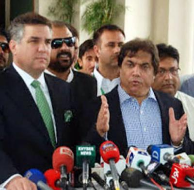 عمران خان نااہل ہونے اوران کی اے ٹی ایم ٹوٹنے جا رہی ہے:مسلم لیگ ن کےرہنماؤں کی میڈیا سےگفتگو