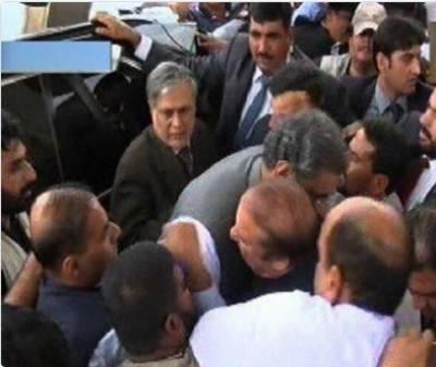 وزیراعظم شاہد خاقان عباسی نے نواز شریف کو رخصت کیا