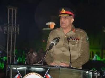 لاہور میں واہگہ بارڈر پر پرچم کشائی کی تقریب آرمی چیف جنرل قمر جاوید باوجوہ کاخطاب