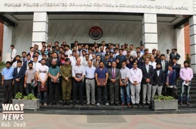 پاکستانی کرکٹرز کا پنجاب سیف سٹیزاتھارٹی ہیڈ آفس لاہور قربان لائن کا دورہ,کیمروں کی مدد سے سکیورٹی ومانیڑنگ کے عمل کا جائزہ لیا