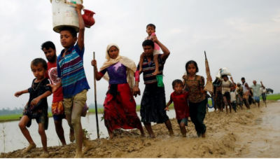 میانمار کی ظالم فوج اور انتہا پسند بدھسٹ کی جانب سے مسلمان باسیوں کا قتل عام