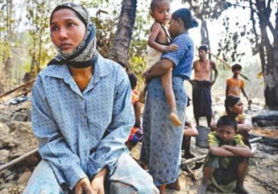 روہنگیا مسلمانوں کے قتل عام پر سوشل میڈیا پر بھی کڑی تنقید کی جارہی ہے