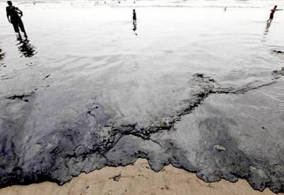 سی ویو پر سال میں دوسری مرتبہ تیل پھیل گیا۔