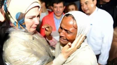 ترک خاتون اول آمینا اردگان نے بنگلہ دیش میں مقیم روہنگیا مسلمانوں کے کیمپ کا دروہ کیا