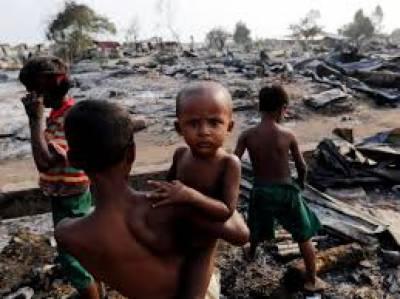 میانمار کی سرکاری افواج اور اتنہا پسند بدھ ملیشیا کے مسلمانوں پر حملے جاری ہیں، مزید8 مسلم دیہاتوں کو نذر آتش کردیا گیا