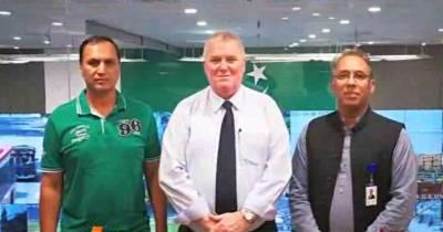 آئی سی سی سیکیورٹی کنسلٹنٹ ڈیوڈ سمیراور ڈائریکٹر سیکیورٹی پی سی بی کرنل اعظم خان کا پنجاب سیف سٹیز اتھارٹی قربان لائنز آفس کا دورہ