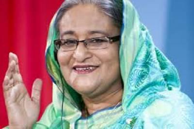 بنگلہ دیشی وزیراعظم شیخ حسینہ واجد نے روہنگیا مسلمانوں کےلئے قائم کئے گئے عارضی کیمپوں کا دورہ کیا