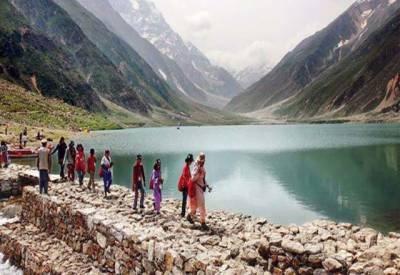 پاکستان میں غیرملکی سیاحوں کی آمد میں 3 گنا اضافہ ہو ا ہے۔ بلوم برگ