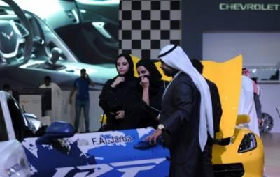 ریاض کے موٹر شو میں سعودی خواتین کی دلچسپی