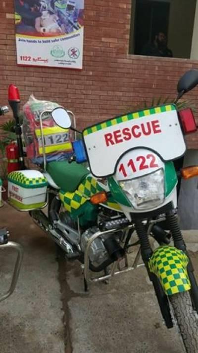 لاہور میں ریسکیو ڈبل ون ڈبل ٹو موٹرسائیکل ایمبولینس سروس نے کام شروع کردیا