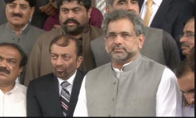 وزیراعظم شاہد خاقان عباسی کی ایم کیوایم وفد سے ملاقات، کراچی میں امن وامان یقینی بنانے پراتفاق کیا گیا