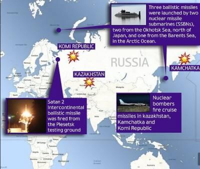 روس کا12نیوکلیئرہتھیاروں کےحامل نئے بیلسٹک میزائل کاتجربہ