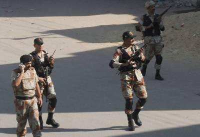 کراچی: رینجرز کی کاروائی 4 ملزمان گرفتار