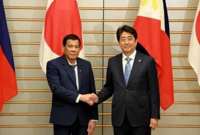 جاپانی وزیراعظم سے فلپائنی صدر کی ملاقات