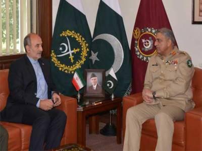 آرمی چیف جنرل قمر جاوید باجوہ سے ایرانی سفیرمہدی ہنردوست کی ملاقات