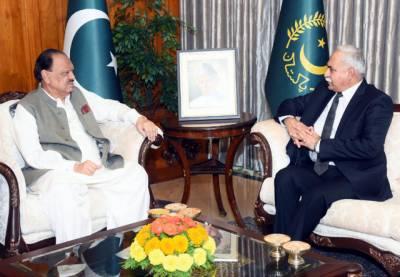 صدر مملکت ممنون حسین سے سری لنکا میں پاکستانی سفیر کی ملاقات