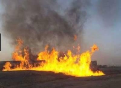 کراچی کے علاقے نیشنل اسٹیڈیم کے قریب رات گئے اچانک درختوں میں آگ بھڑک اٹھی