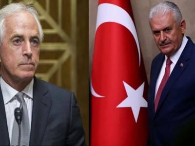 ترک وزیر اعظم کی امریکی ریپبلکن سینیٹر باب کروکر سے ملاقات
