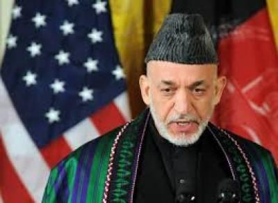 امریکا داعش کو افغانستان میں پھلنے پھولنے کا پورا موقع دے رہا ہے:حامد کرزئی