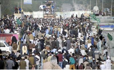 حکومت اسلام آباد میں مذہبی جماعت کادھرنا ختم کرانے میں مکمل ناکام ہے،