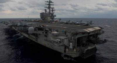 امریکی نیوی کا ایک مال بردار طیارہ جاپان کے جنوب مشرقی شہر اوکیناوا کے قریب فلپائنی سمندر میں گرگیا