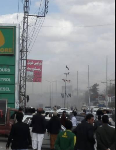 کوئٹہ میں سریاب روڈ پر سیکورٹی فورسز کی گاڑی کے قریب دھماکے کے نتیجے میں4 افراد شہید جبکہ21 زخمی ہو گئے