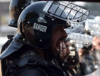 دھرنے پر تعینات فورس کی سکیورٹی رینجرز نے سنبھال لی, جس کے بعد صورتحال میں بہتری