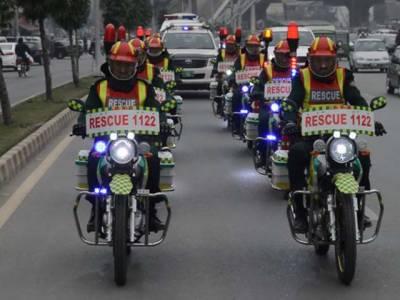 فیصل آباد میں ریسکیو 1122موٹر سائیکل ایمبولینس کا آغازہوگیا۔