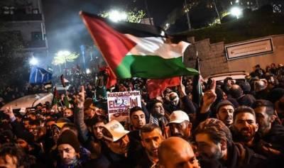 امریکی سفارتخانے کی تل ایب سے مقبوضہ بیت المقدس منتقلی کے فیصلے کیخلاف غزہ اور ترکی میں ہزاروں افراد سڑکوں پر نکال آئے