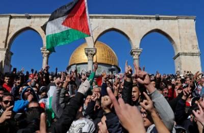 مقبوضہ بیت المقدس پرامریکی فیصلےکیخلاف فلسطین اوراردن میں پرزور احتجاج جاری,مظاہرین اورفورسز کےدرمیان جھڑپوں میں اب تک 31فلسطینی زخمی