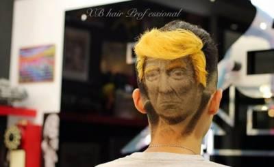امریکی صدر ڈونلڈ ٹرمپ خود چاہے اتنے مقبول نہ ہوں، لیکن ان کا ہیئر اسٹائل ضرور مقبول ہے۔