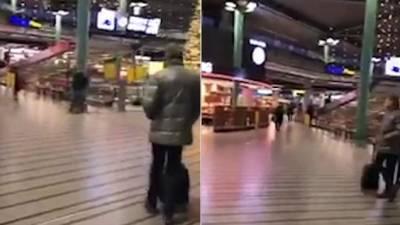 ہالینڈمیں ایمسٹرڈیم ایئرپورٹ پرواقع دفترمیں چاقوبردارشخص کاحملہ