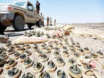 یمنی فوج نے شمالی یمن میں بچھائی گئی 6000 باردوی سرنگیں تلف کردیں