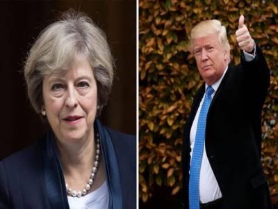برطانوی وزیر اعظم اور ٹرمپ کی ٹیلی فونک گفتگو میں یروشلم اور یمن سے متعلق گفتگو